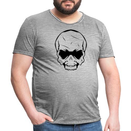 tête de mort - T-shirt vintage Homme