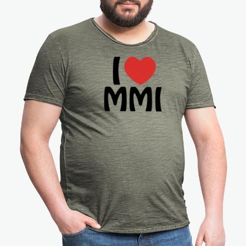 I love MMI - T-shirt vintage Homme