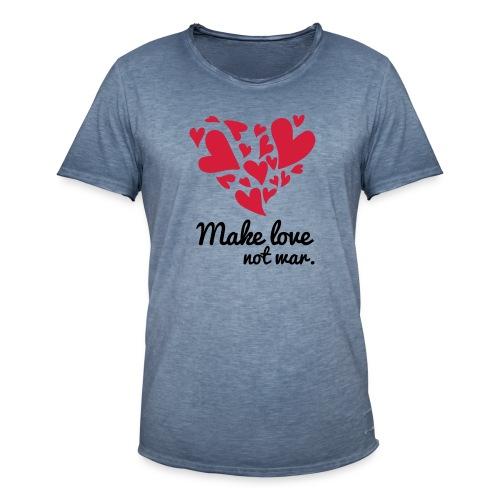 Make Love Not War T-Shirt - Men's Vintage T-Shirt