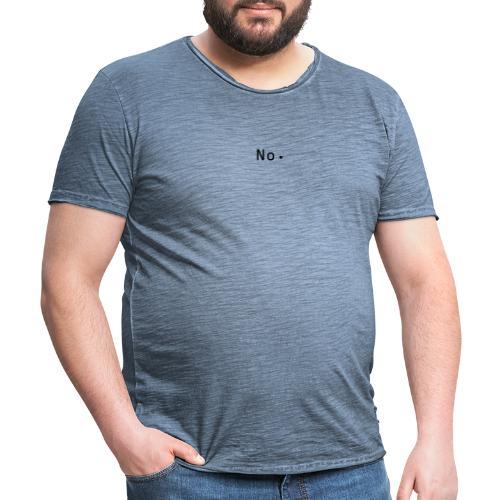 No - Vintage-T-skjorte for menn