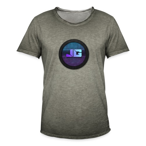 Pet met Logo - Mannen Vintage T-shirt