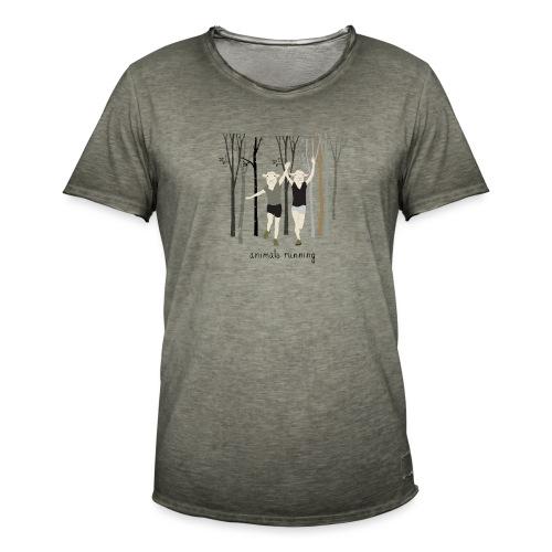 Moutons running - T-shirt vintage Homme