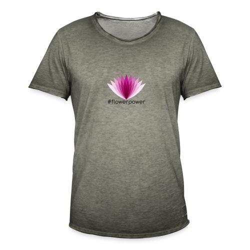 #flowerpower - Men's Vintage T-Shirt