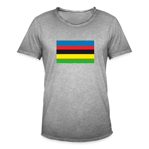 Cycling_World_Champion_Rainbow_Stripes-png - Mannen Vintage T-shirt
