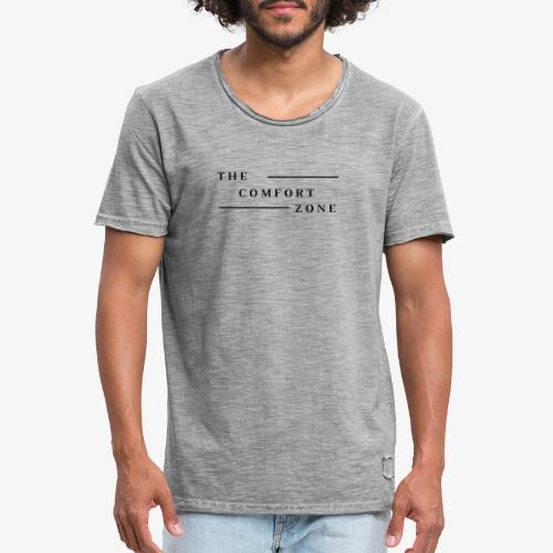 Logo zwart The Comfort Zone - Mannen Vintage T-shirt
