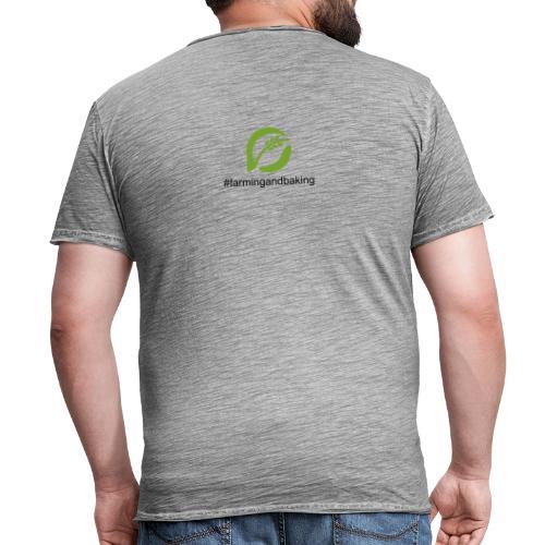 farmingandbaking_logogruen - Männer Vintage T-Shirt
