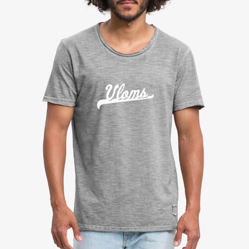 Logo wit Vloms - Mannen Vintage T-shirt
