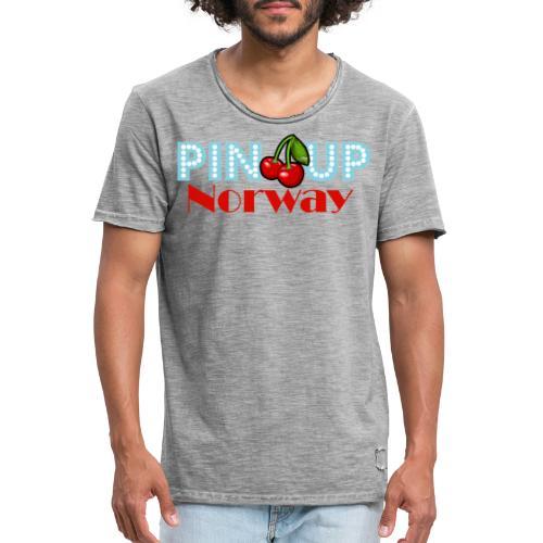 Pinup Norway Fan Club - Vintage-T-skjorte for menn