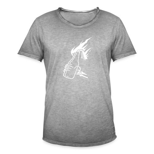 Skeleton Molotov - Men's Vintage T-Shirt