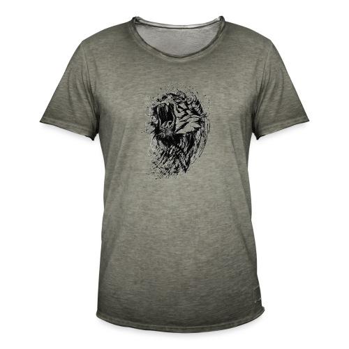 villikissa kuva - Miesten vintage t-paita
