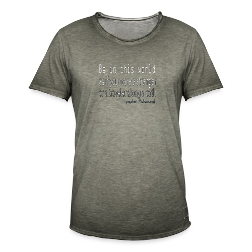 be in the world - T-shirt vintage Homme
