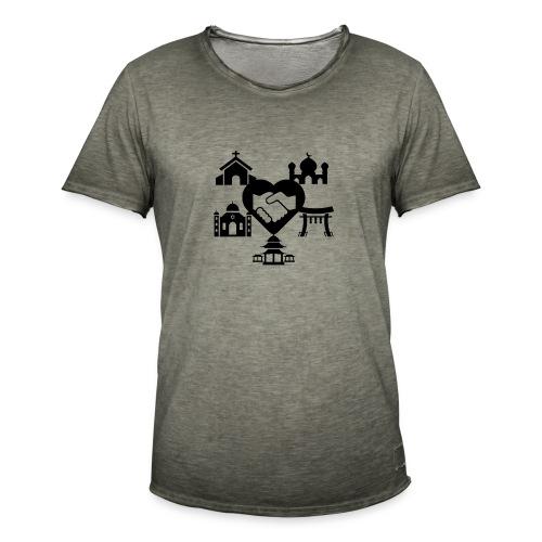 religion peace - T-shirt vintage Homme
