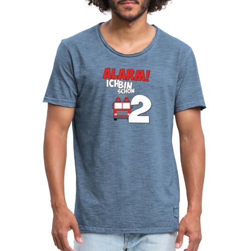 Feuerwehrauto 2. Geburtstag Jungen 2 Jahre - Männer Vintage T-Shirt