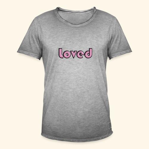 loved - Maglietta vintage da uomo