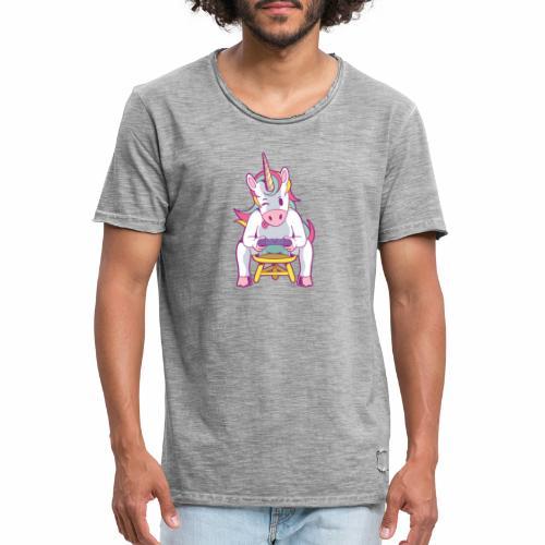 gamer unicorn - Männer Vintage T-Shirt
