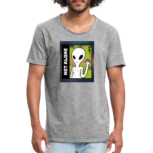 alien t shirt design maker featuring a smiling ali - Herre vintage T-shirt