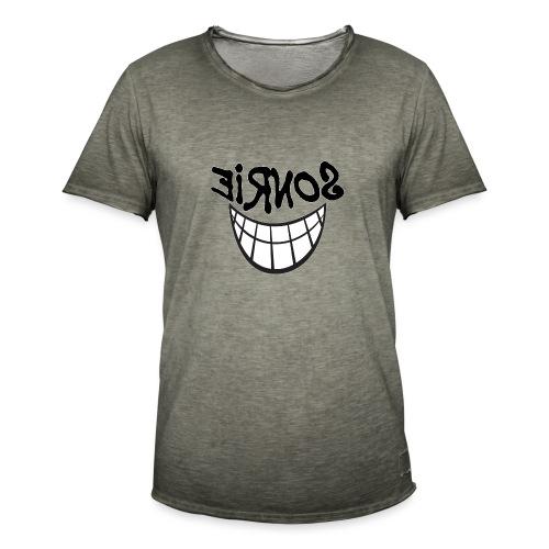 Para el Espejo:Sonrie 01 - Camiseta vintage hombre