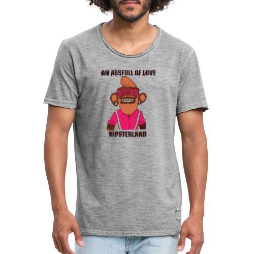 Hipsterland Affe - Männer Vintage T-Shirt