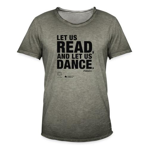 LET US READ   Bookish Merch - Männer Vintage T-Shirt