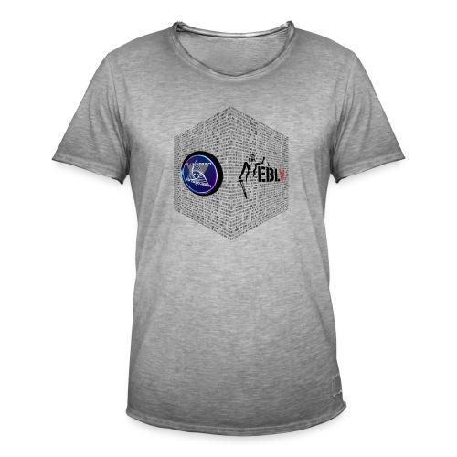 disen o dos canales cubo binario logos delante - Men's Vintage T-Shirt