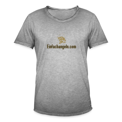 Einfachangeln Teamshirt - Männer Vintage T-Shirt