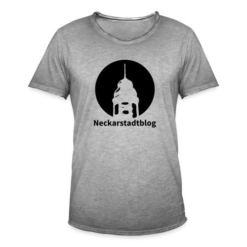Logo mit Schriftzug inv. (Alternative Farben) - Männer Vintage T-Shirt