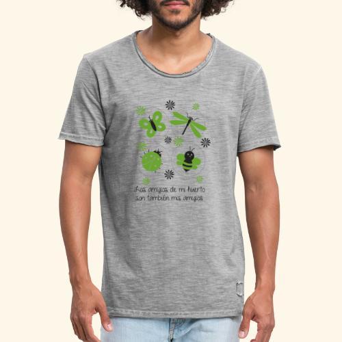 Amigos del huerto y el jardín - Camiseta vintage hombre