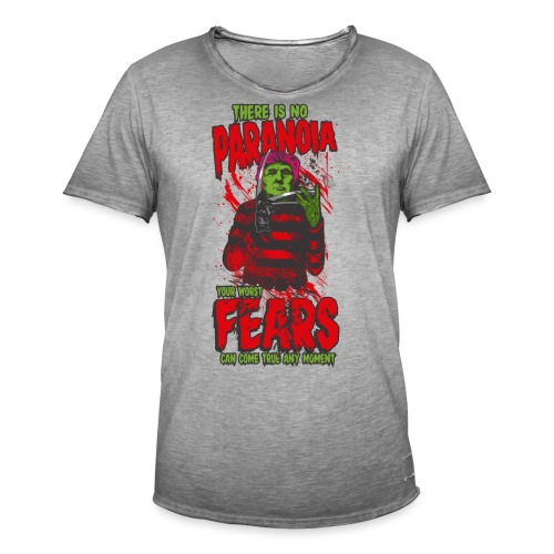 There is no paranoia - Vintage-T-skjorte for menn