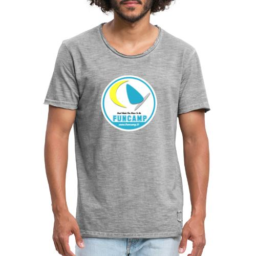 logo - T-shirt vintage Homme