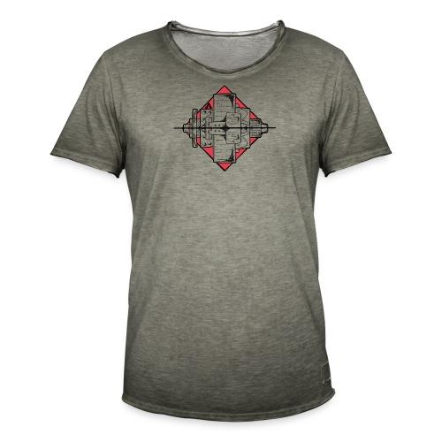 Horizon architectiuur - T-shirt vintage Homme