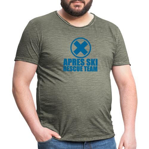 apres-ski rescue team - Mannen Vintage T-shirt
