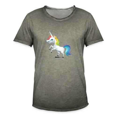 Regenboog eenhoorn - Mannen Vintage T-shirt