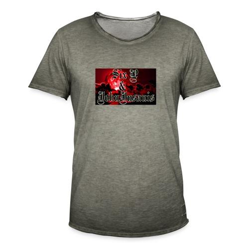 Kontrasti naisten t - paita - Miesten vintage t-paita
