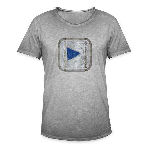 hier entlang ! - Männer Vintage T-Shirt