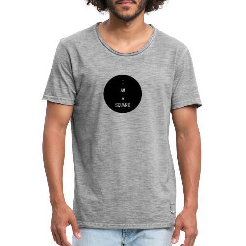 I AM A SQUARE - Maglietta vintage da uomo