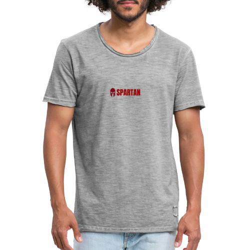 Spartan Anton Base Amaranto - Maglietta vintage da uomo