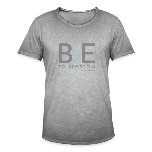 Be to blossom with swoosh (gray) -Power to Blossom - Men's Vintage T-Shirt