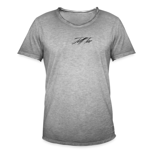 JeffTec Signature Logo White - Men's Vintage T-Shirt