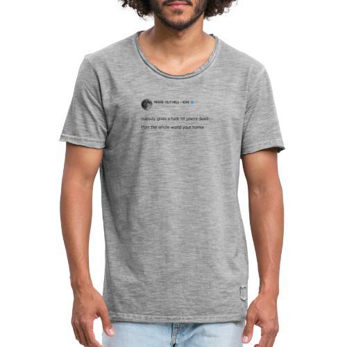 XXXTENTACION TWEET - Mannen Vintage T-shirt