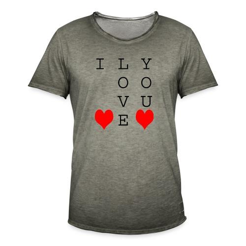 I Love You - Men's Vintage T-Shirt