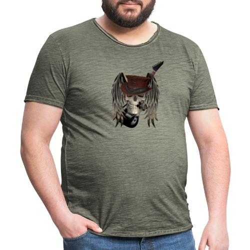 Metal Patch - Männer Vintage T-Shirt