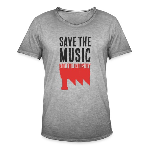 Save the Music - T-shirt vintage Homme