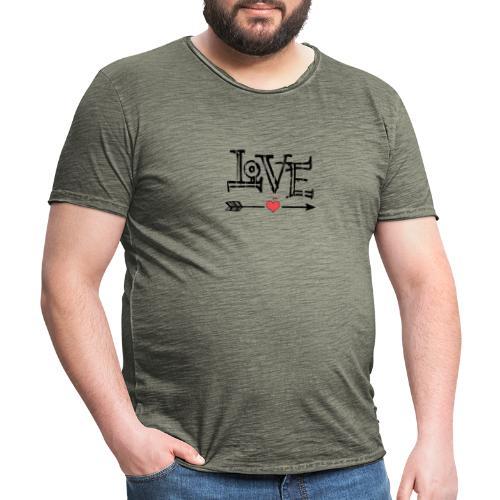 Love flêche - T-shirt vintage Homme