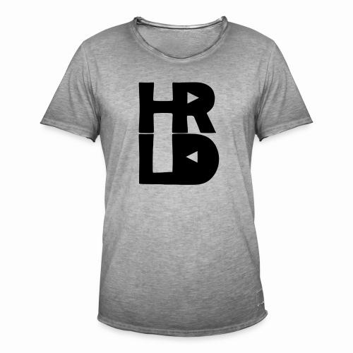 HRLD Black Logo - Miesten vintage t-paita