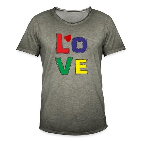 LOVE - Männer Vintage T-Shirt