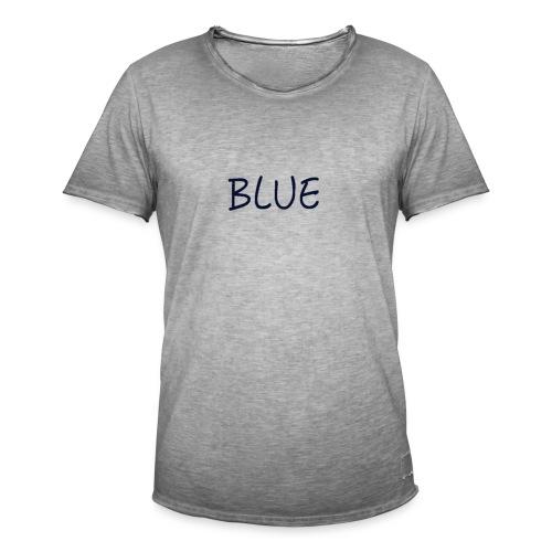 BLUE - Mannen Vintage T-shirt