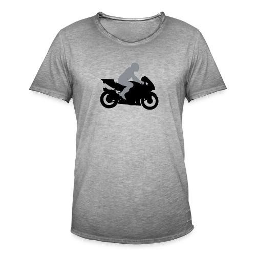 Biker Silhouette - Männer Vintage T-Shirt