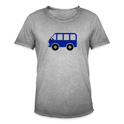 Bus Comic - Männer Vintage T-Shirt