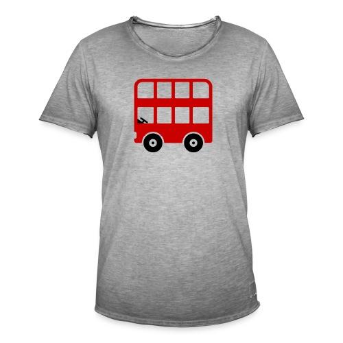 Doppeldecker Bus Comic - Männer Vintage T-Shirt
