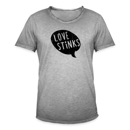 Love Stinks Bubble - Männer Vintage T-Shirt